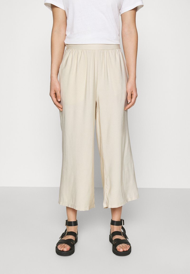 Even&Odd - Cropped wide leg trouser - Trousers - off white