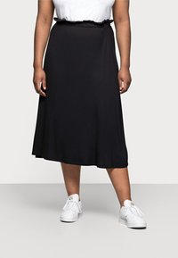 Even&Odd Curvy - A-line skirt - black - 0