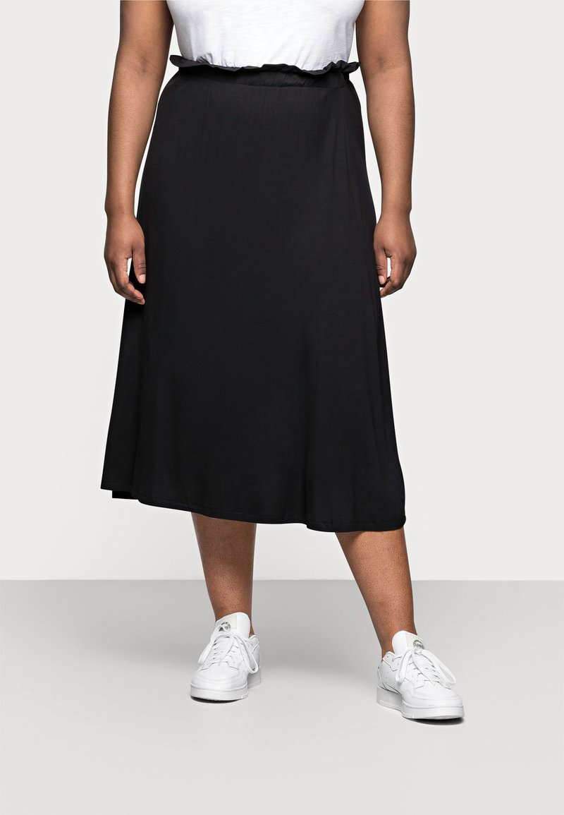 Even&Odd Curvy - A-line skirt - black