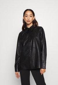 Gina Tricot - ANNIE - Button-down blouse - black - 0