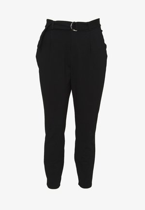 VMEVA LOOSE BELT PANT CURVE - Trousers - black