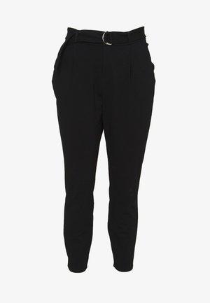 VMEVA LOOSE BELT PANT CURVE - Kalhoty - black