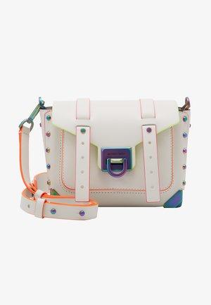 MANHATTAN  MESSENGER NEON TRIM - Across body bag - optic white
