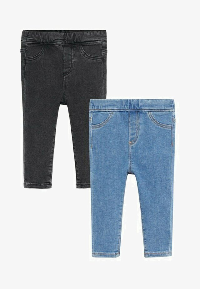 2 PACK - Jeggings - middenblauw
