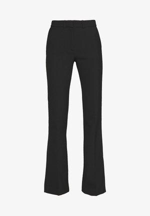 SPLIT HEM TUXEDO TROUSER - Kalhoty - black