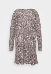 New Look Curves - ANIMAL FRILL DRESS - Day dress - brown - 1