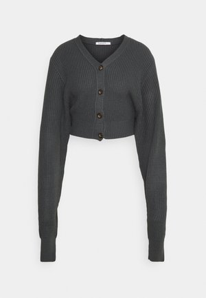 CROPPED CARDIGAN - Cardigan - gunpowdergrey