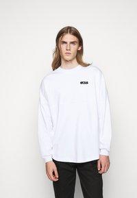 GCDS - ROUND LOGO TEE - Long sleeved top - white - 0