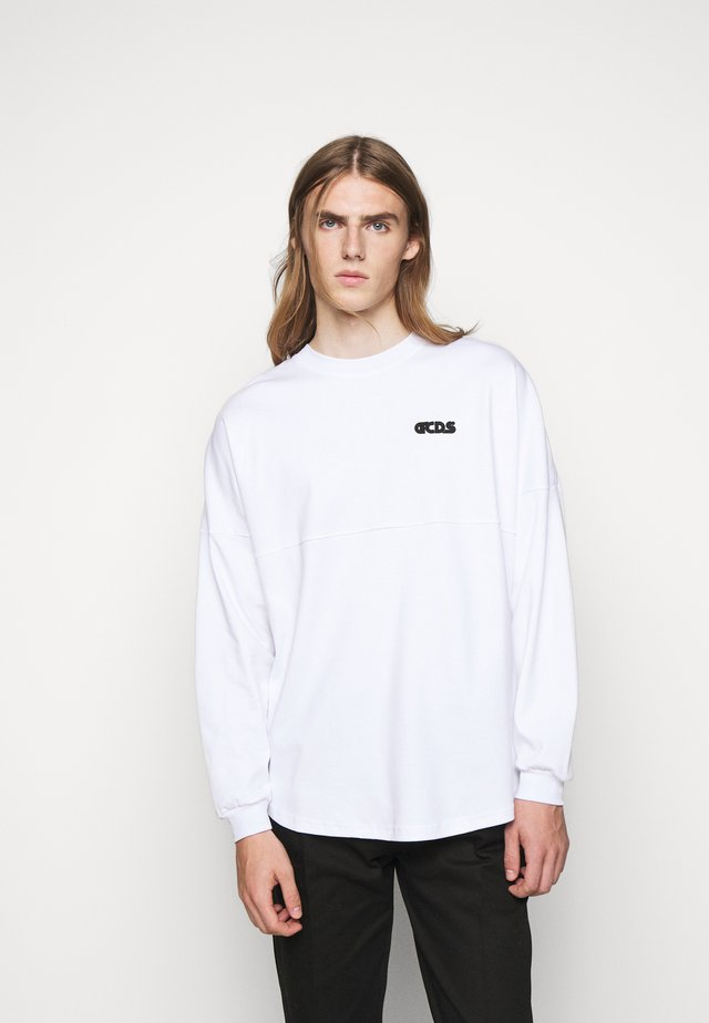 ROUND LOGO TEE - Long sleeved top - white