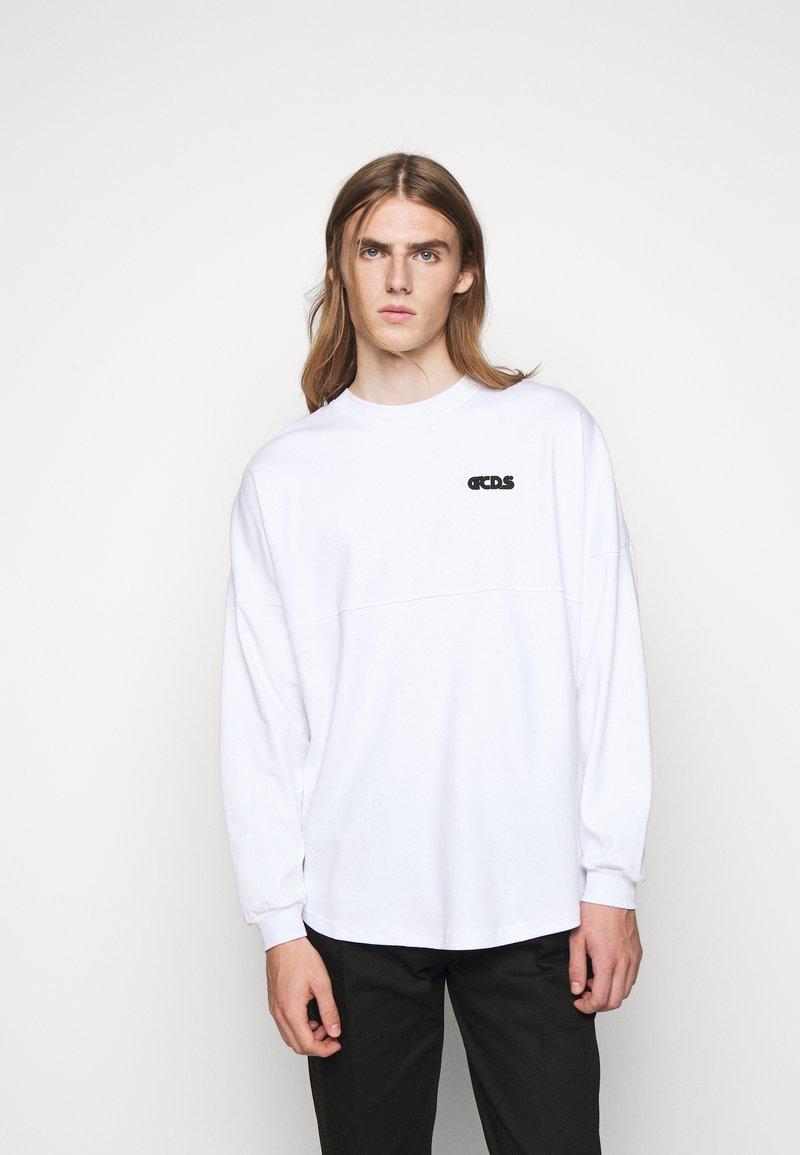 GCDS - ROUND LOGO TEE - Long sleeved top - white