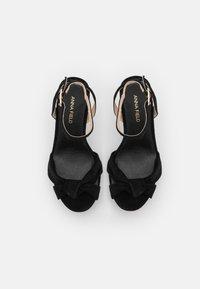Anna Field - LEATHER - Højhælede sandaletter / Højhælede sandaler - black - 5