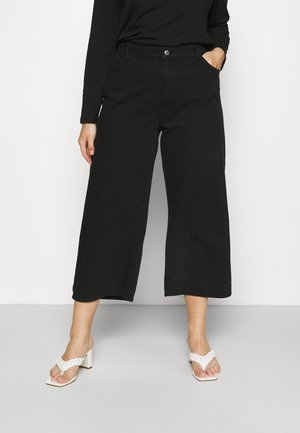 NMAMANDA WIDE ANKLE - Relaxed fit jeans - black