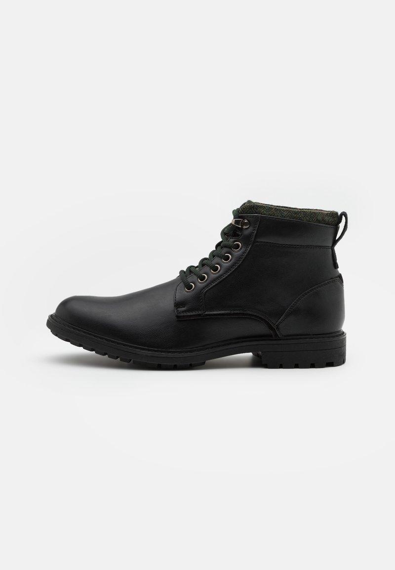 Burton Menswear London - POWELL - Lace-up ankle boots - black