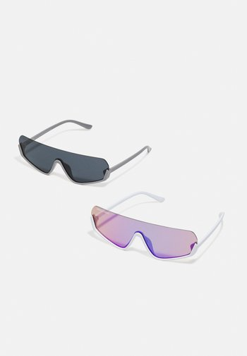 SPETSES 2 PACK UNISEX - Sunglasses - white/hollographic/darkgrey/black