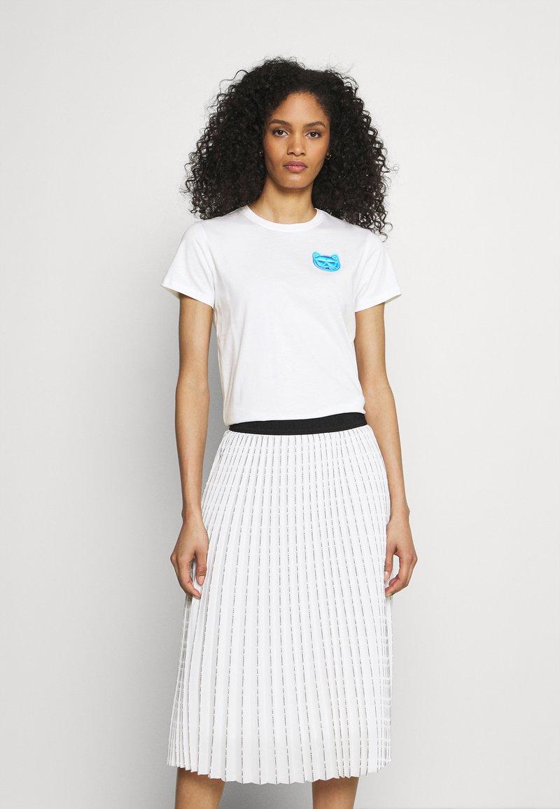KARL LAGERFELD - MINI IKONIK CHOUPETTE - Print T-shirt - white