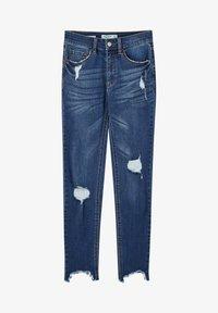 PULL&BEAR - MIT HALBHOHEM BUND UND RISSEN  - Jeans Skinny Fit - dark blue - 6