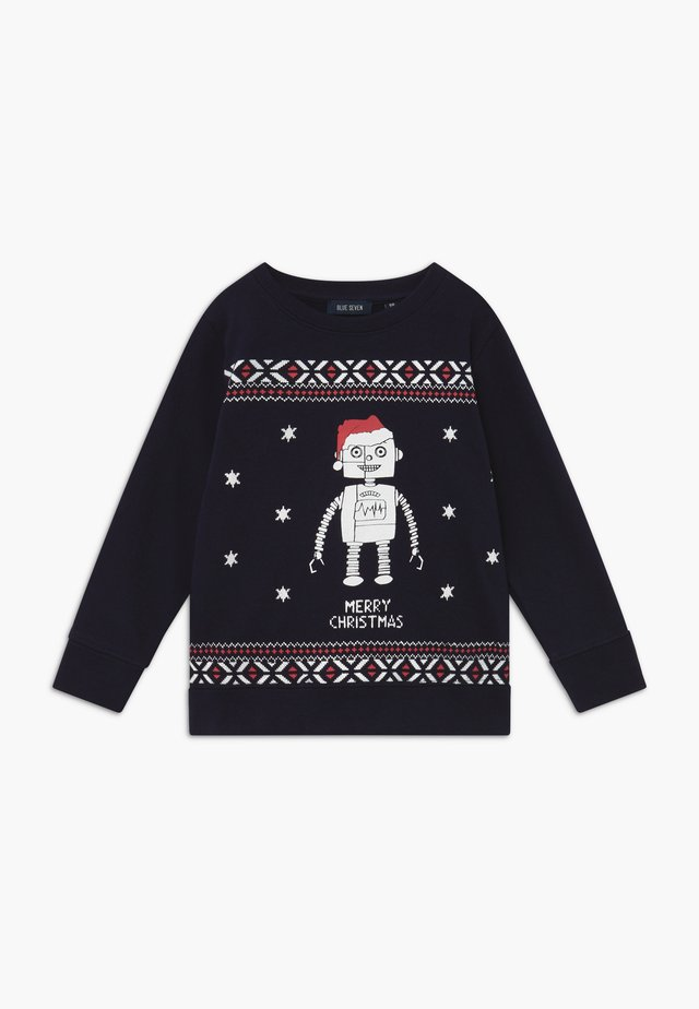 KIDS CHRISTMAS DOG  - Sweatshirts - nachtblau