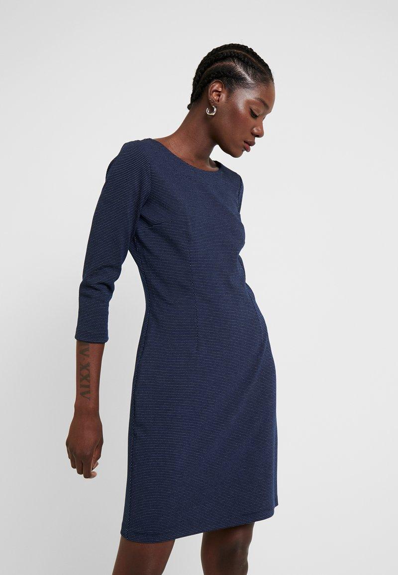 TOM TAILOR - DRESS SHIFT - Sukienka etui - dark blue
