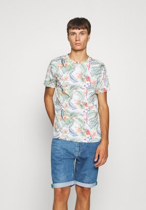 JORTROPICALBIRDS TEE CREW NECK - Print T-shirt - cloud dancer