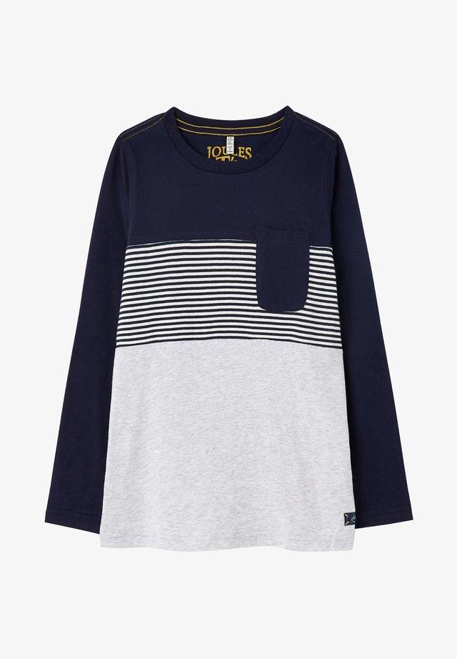 ARCHER - T-shirt med print - grau meliert