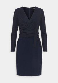 Lauren Ralph Lauren - BONDED DRESS COMBO - Shift dress - lighthouse navy - 4