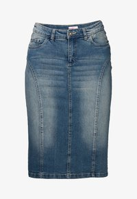 Sheego - Denim skirt - blue denim - 5