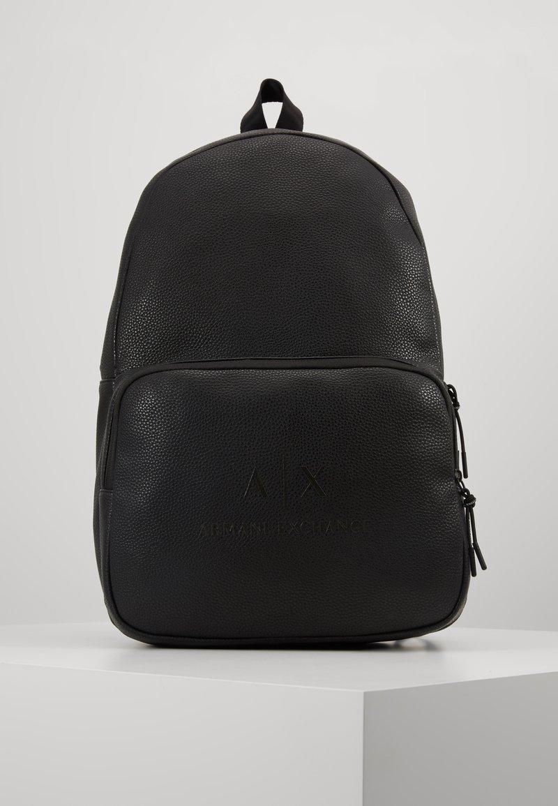 Armani Exchange - BACKPACK - Reppu - black/gunmetal