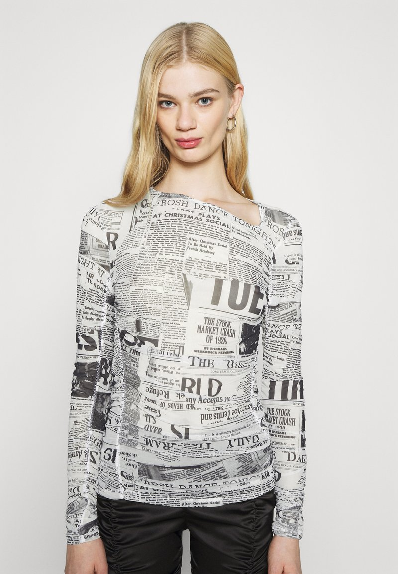 Weekday - MARGERIE LONG SLEEVE - Long sleeved top - white