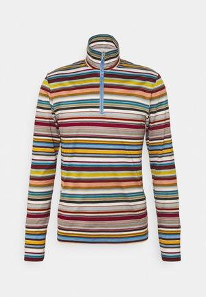 ZIP NECK - Top sdlouhým rukávem - multicoloured