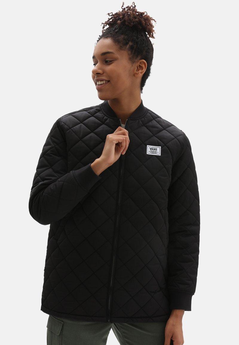 Vans - WM BOOM BOOM 66 LONG JACKET - Light jacket - black