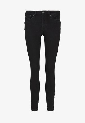 Jeans Skinny Fit - used dark stone black denim
