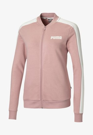 veste en sweat zippée - bridal rose