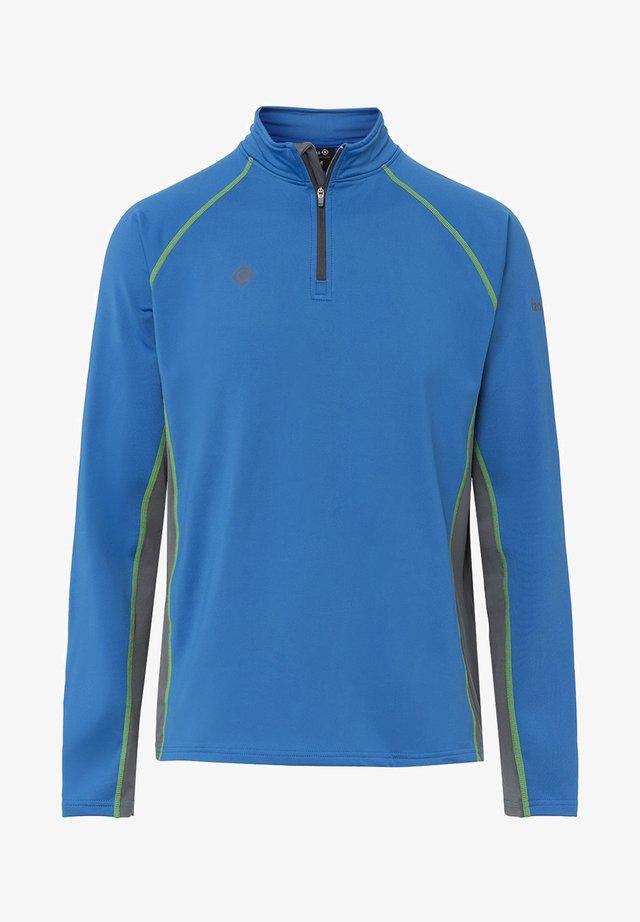 TAKU - Sports shirt - royal/dark grey/light green