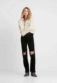 Free People - MY OWN LANE - Jeans straight leg - black - 1