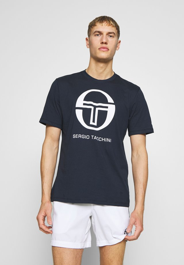 IBERIS  - T-shirt imprimé - navy/white