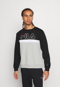 Fila - LAURUS CREW - Sweatshirt - light grey melange/black/bright white - 0