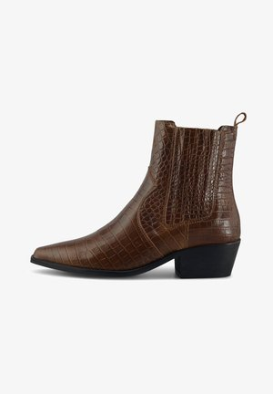 CHELSEA - Cowboy/biker ankle boot - mittelbraun