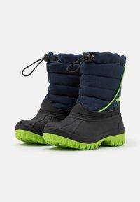 KangaROOS - K-BEN - Winter boots - dark navy/lime - 1