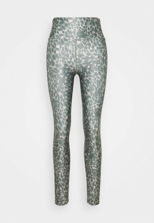 PRINTED CRISS CROSS SIDE LEGGING - Collants - khaki