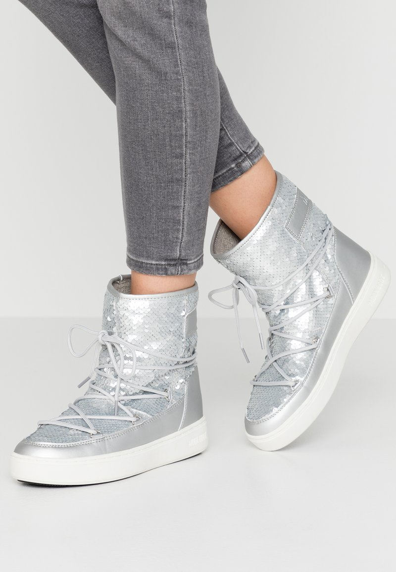 Moon Boot - PULSE MID DISCO  - Winter boots - silver