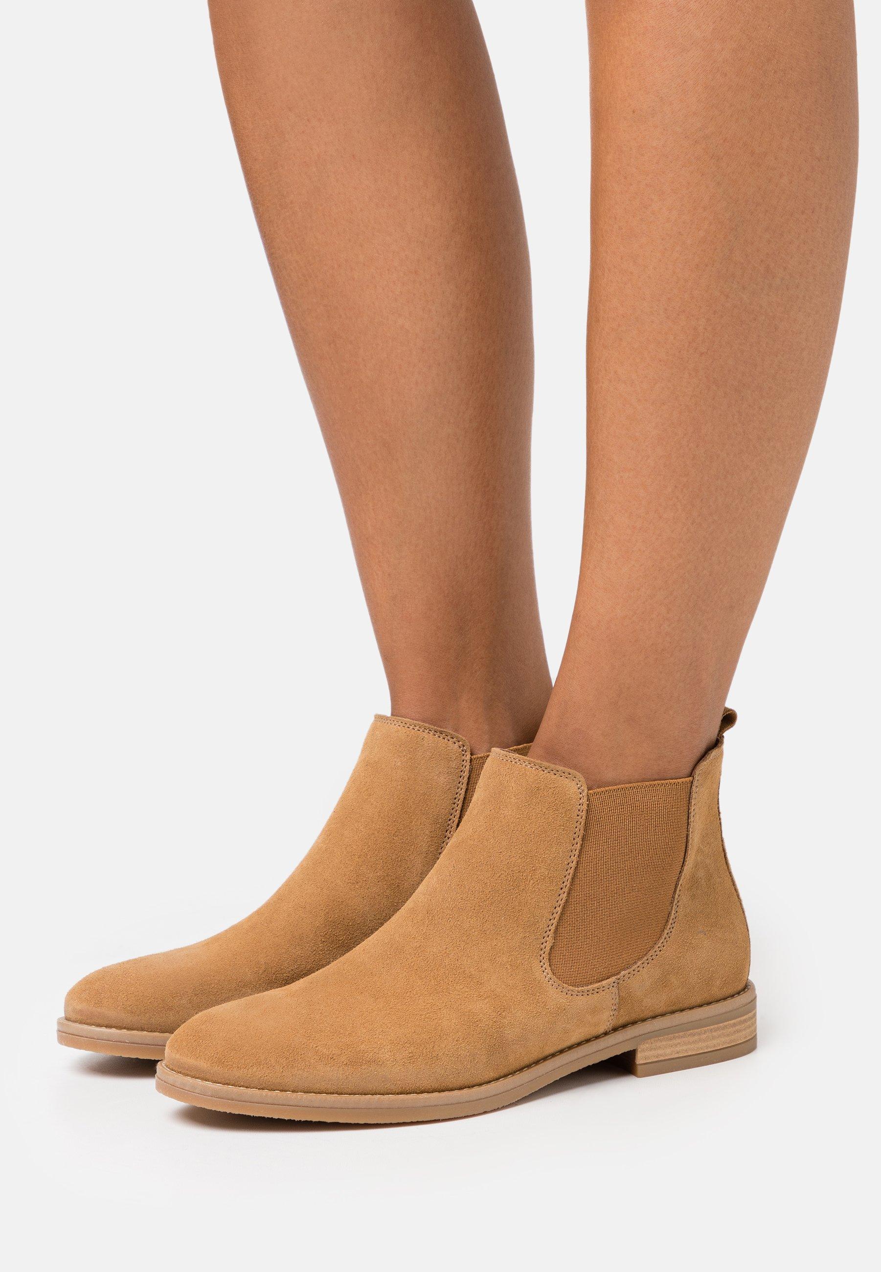 Women LEATHER  - Ankle boots - cognac