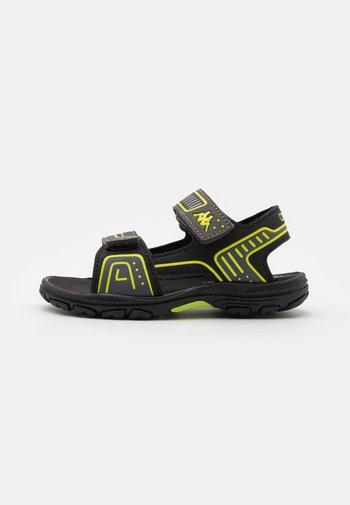 UNISEX - Walking sandals - black/lime