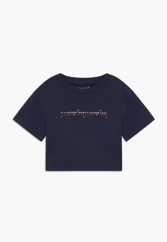 SPORT BOXY LOGO TEE - T-shirt imprimé - blue