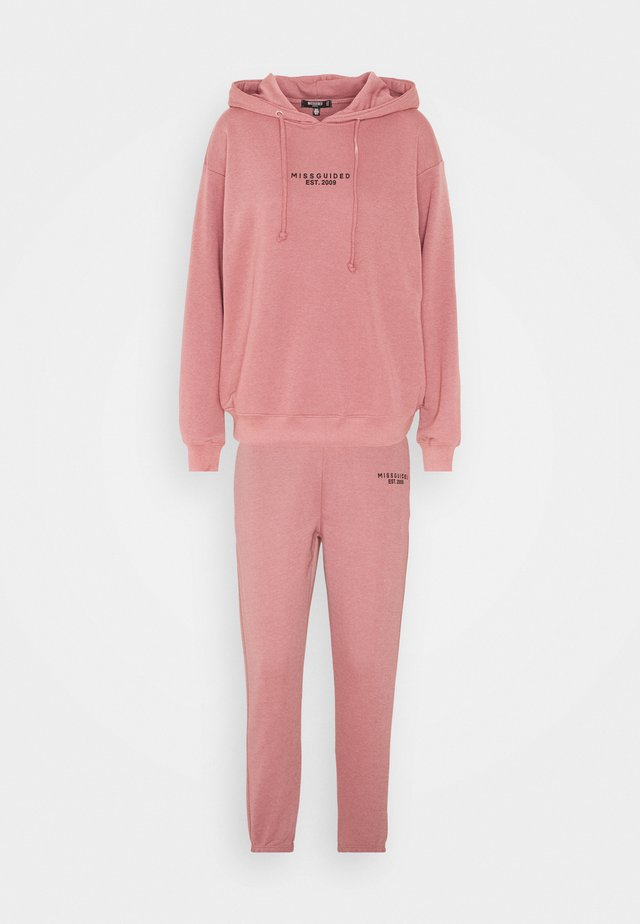 HOODY JOGGER SET - Sweater - rose