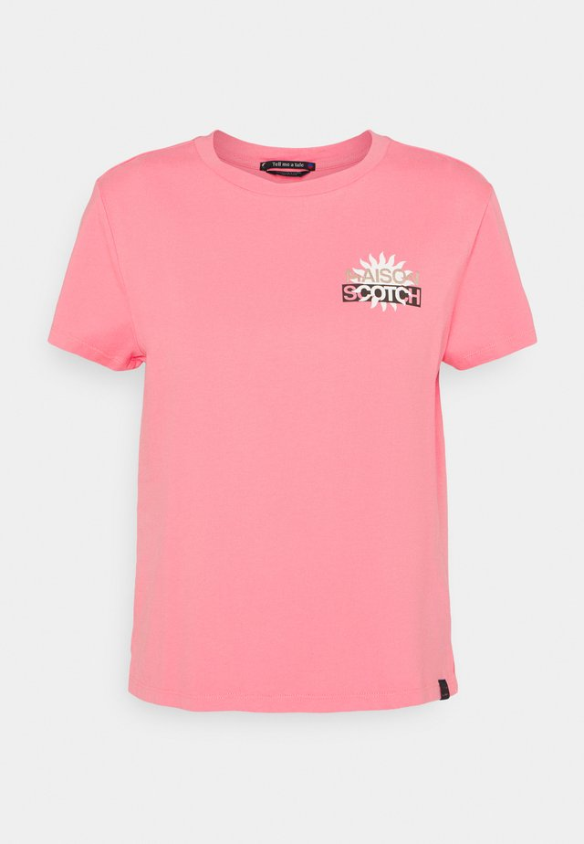 SIGNATURE LOGO - T-shirt print - pink smoothie