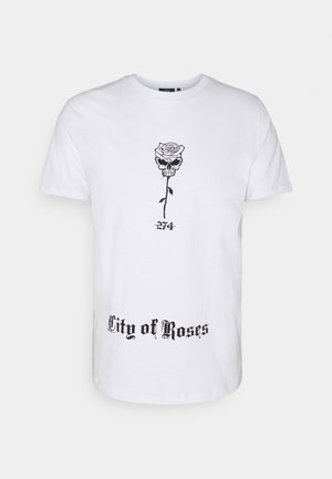 SKULL ROSE TEE - Print T-shirt - white
