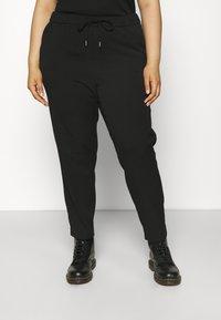 Vero Moda Curve - VMMAYA LOOSE STRING PANT - Broek - black - 0