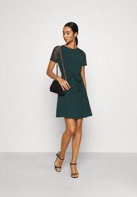 Vero Moda - VMJASMINE LACE TIE SHORT DRESS - Jersey dress - ponderosa pine - 1