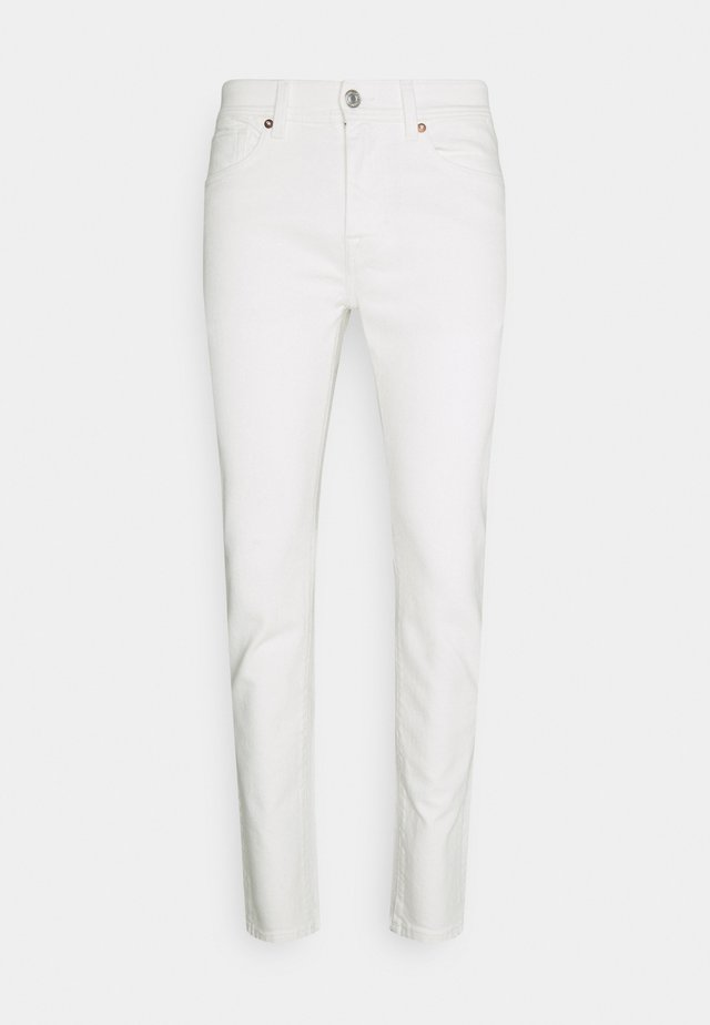SLHSLIM LEON  - Slim fit jeans - white denim