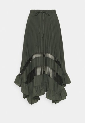 SELODE - Maxi skirt - vert foret